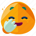 emoji, emoticon, emotion, laugh, shy, smiley icon