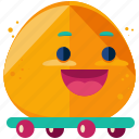 emoji, emoticon, happy, skateboard, smiley, sport icon