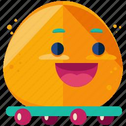 emoji, emoticon, happy, skateboard, smiley, sport icon