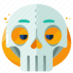 emoji, emoticon, mask, skull, smiley icon