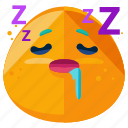emoji, emoticon, face, sleepy, smiley, tired