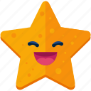 emoji, emoticon, face, grin, smile, smiley, star