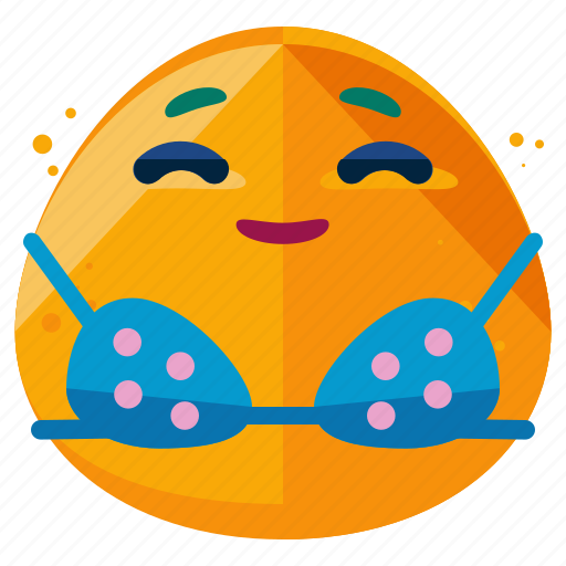 Bikini, emoji, emoticon, smiley, summer, sunbathing icon - Download on Iconfinder