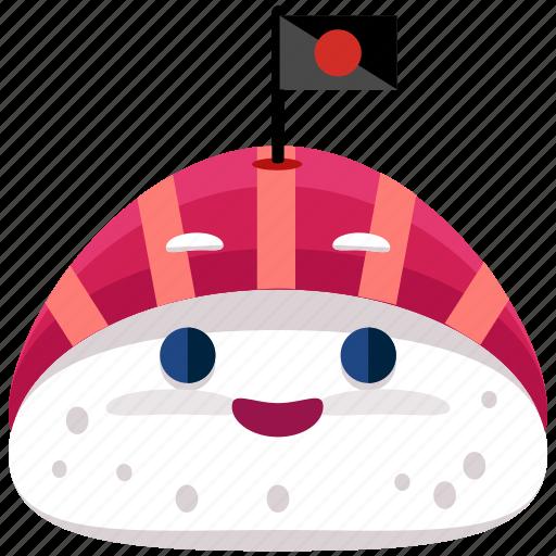 emoji, emoticon, food, smiley, sushi icon