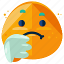 down, emoji, emoticon, sad, smiley, thumbs icon