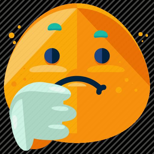 down, emoji, emoticon, sad, smiley, thumbs icon