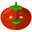 emoji, emoticon, face, smiley, tomato, vegetable icon