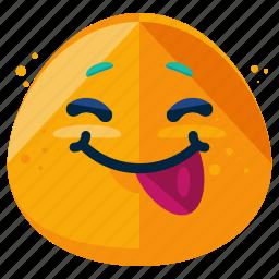 emoji, emoticon, face, out, smile, smiley, tongue icon