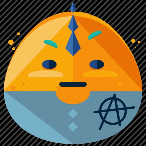 emoji, emoticon, evil, face, smiley, villian icon