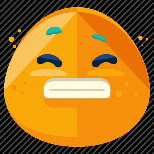 emoji, emoticon, face, grin, smile, smiley, wide icon
