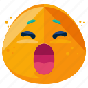 emoji, emoticon, face, smiley, tired, yawn icon