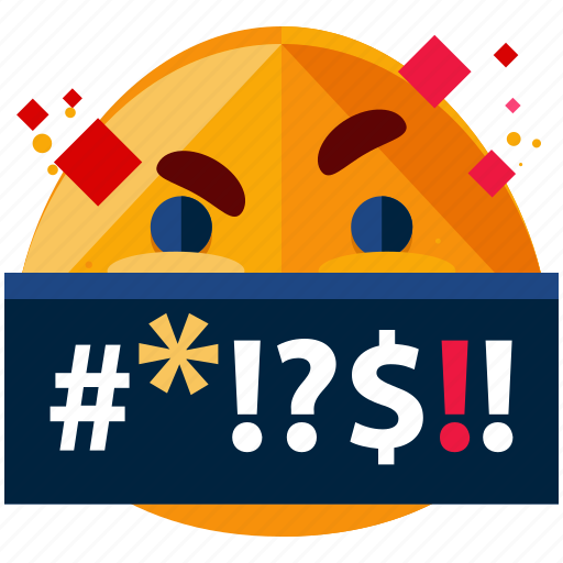 emoji, emoticon, face, smiley, swearing, yelling icon