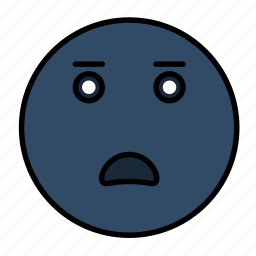 emoji, emoticon, emotion, face, frustrated, sad, smiley icon