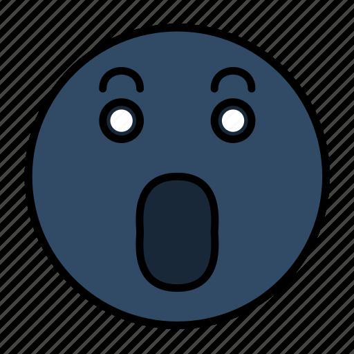 emoji, emoticon, emoticons, emotion, face, frightened, smiley icon