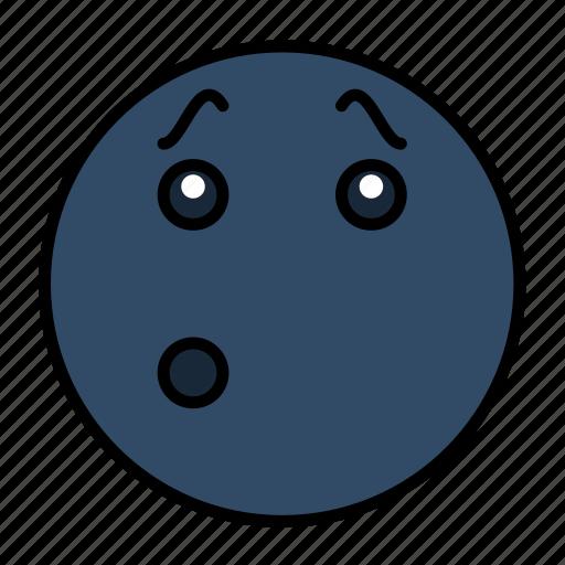 emoji, emoticon, emotion, face, smiley, whistle, whistling icon