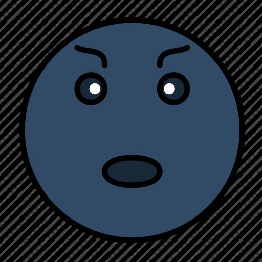 angry, emoji, emoticon, emotion, evil, face, smiley icon