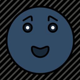 emoji, emoticon, emotion, face, happy, smail, smiley icon