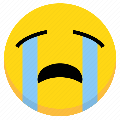 Cry, crying, emoji, emoticon, expression, face, sad icon - Download on Iconfinder