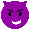 avatar, emoji, evil, face, happy, profile, user
