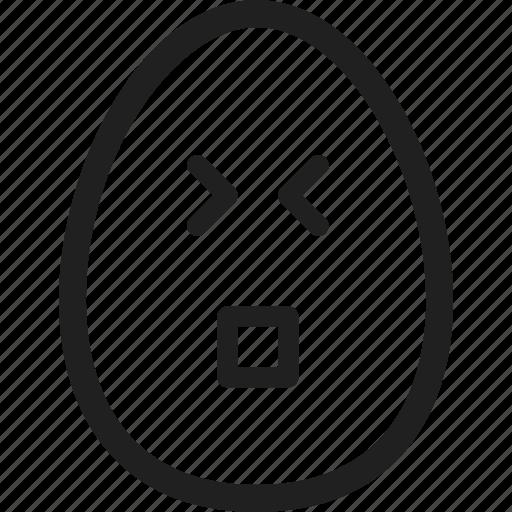 design, egg, emotion, feel, line icon