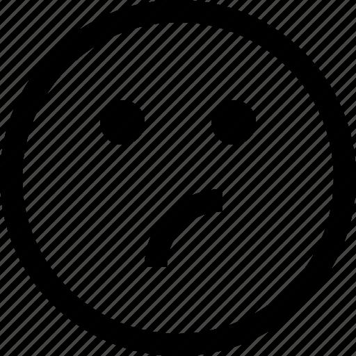 emoji, emotion, emotional, face, feeling, thinking icon