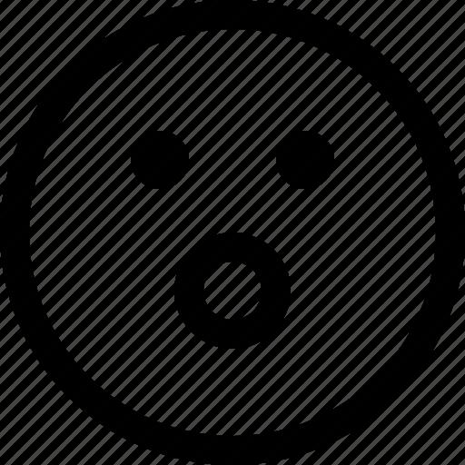 emoji, emotion, emotional, face, feeling, shocked icon