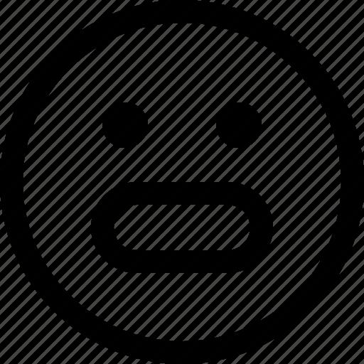 emoji, emotion, emotional, face, feeling, nervous icon