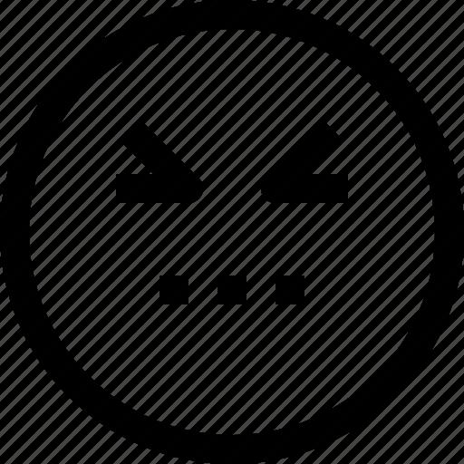 angry, emoji, emotion, emotional, face, feeling icon