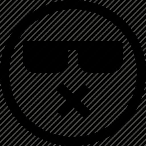 emoji, emotion, emotional, face, feeling, muted icon