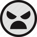 crying, emotion, evil, face, faces icon