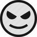 emotion, evil, face, faces, smile icon