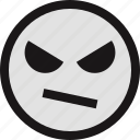 bored, emotion, evil, face, faces icon