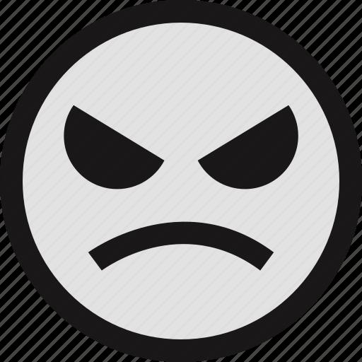 emotion, evil, face, faces, smile icon