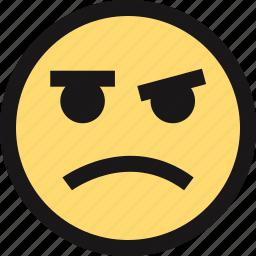 emotion, face, faces, sad icon