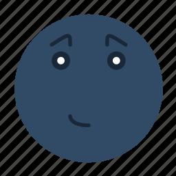cute, emoji, emoticon, emotion, happy, smile, smiley icon