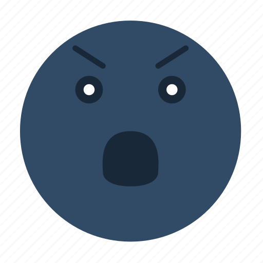angry, emoji, emoticon, emotion, face, feeling, smiley icon