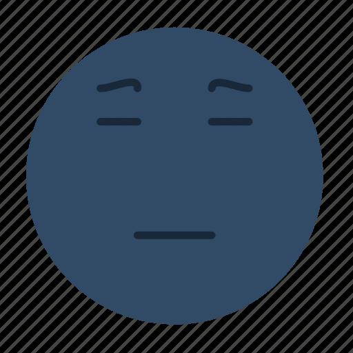 emoji, emoticon, emotion, face, sad, smiley, wistful icon