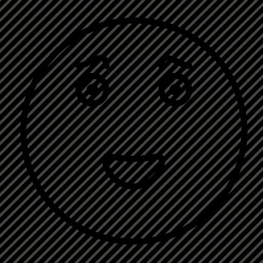 cute, emoji, emoticon, face, happy, smile, smiley icon