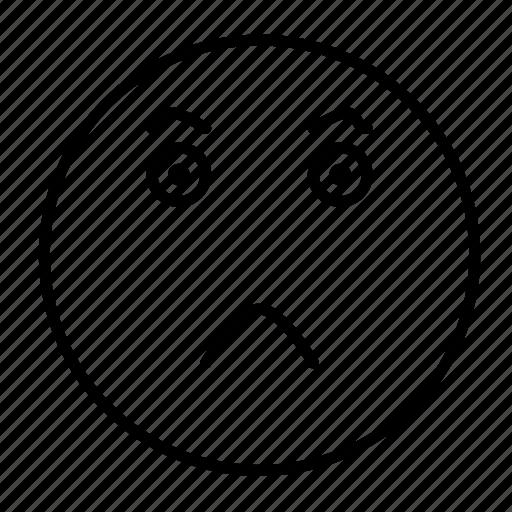 cartoon, emoji, emoticon, emotion, evil, face, smiley icon