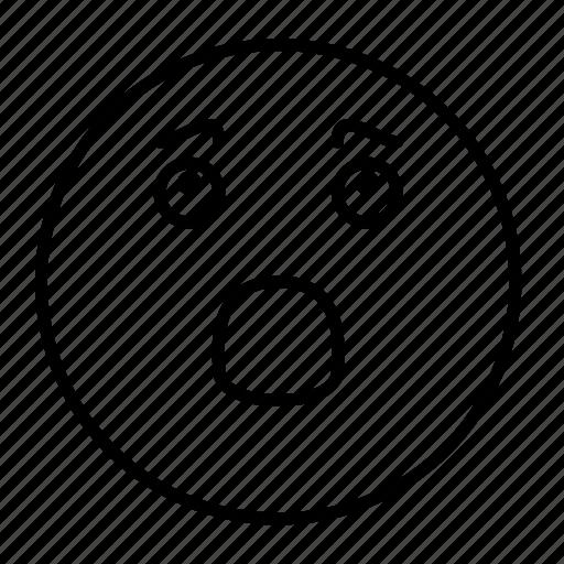 emoji, emoticon, emotion, face, frightened, sad, smiley icon