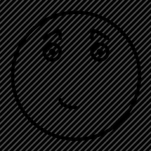 emoji, emoticon, emotion, face, feeling, smiley, wistful icon