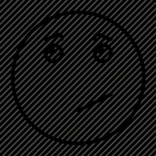 cartoon, emoji, emoticon, emotion, face, feeling, smiley icon