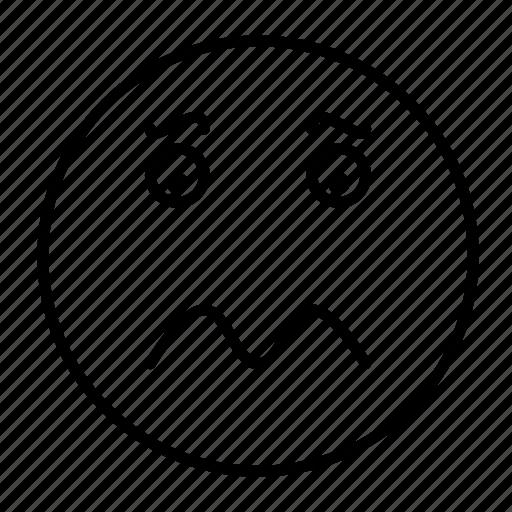 emoji, emoticon, emotion, feeling, frustrated, sad, smiley icon