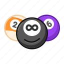billiard, sport, emoji, game