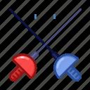 fencing, sport, emoji, game