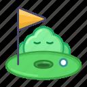 golf, sport, emoji, game