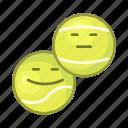 tennis, sport, emoji, game