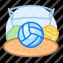 volleyball, sport, emoji, game