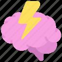 mental, stress, brain, lightening, bolt