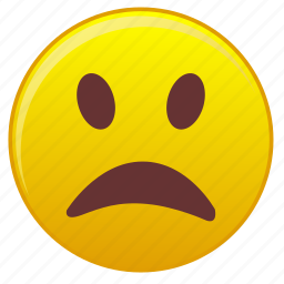 disappointment, emotion, face, look, shame icon